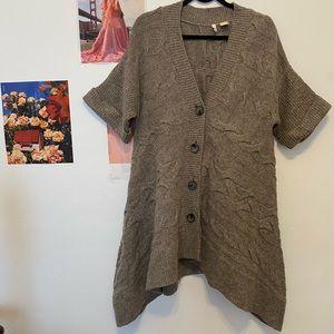 Anthropologie Asymmetrical Button Sweater …